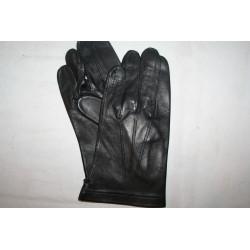 gants noirs cuir officier