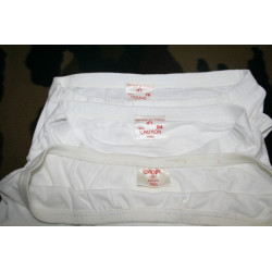 Lot de 3 slips Blancs reglementaires