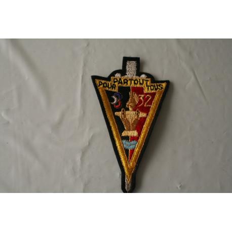 Insigne ou badge tissu du 32 èm Régiment du Génie