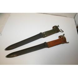 2 Fourreaux pour Baïonnette Française Fusil FSA Mas 49/56
